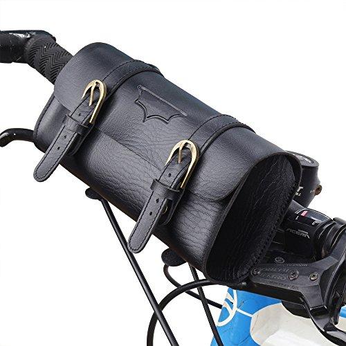 - Vintage Waterproof Bike Bag PU Bicycle handlebar Frame Bag Motorcycle Tool Bag Saddle Bag Storage Tool Pouch