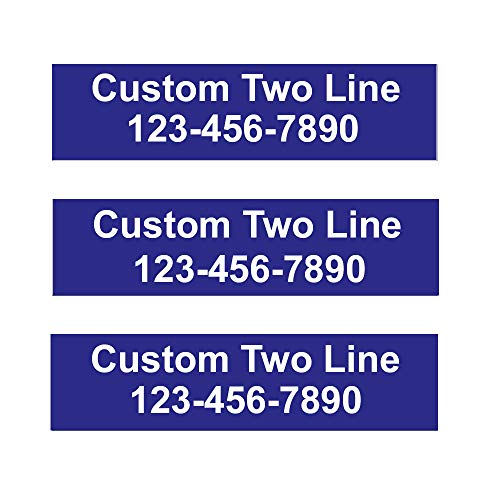 3 Pack Customized 2-Line Rider Signs - 6