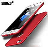 Amozo® All Sides Full Protection '360 Degree' Sleek Rubberised Matte Hard Case Back Cover For Apple iPhone 6 (Red)