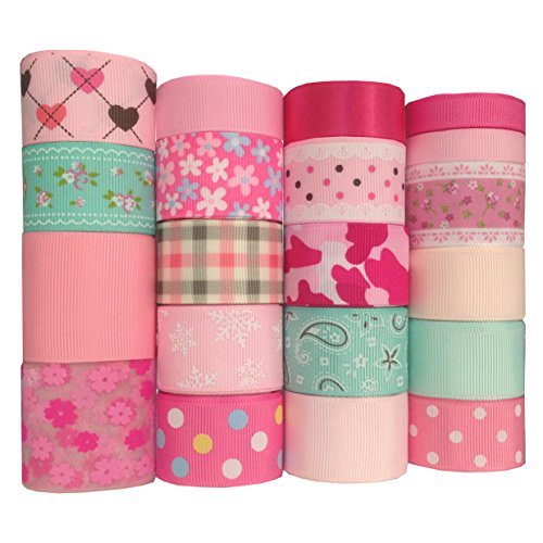Duoqu Easter Day, Spring, Pink Ribbon 20 Yards (20x1yd) 3/8