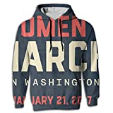 Paskcc Men's Hoodie Tall Sweatshirt Printed Women's March On Washington Athletic