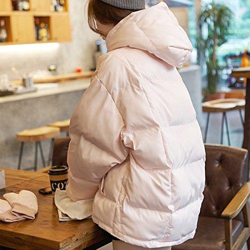 rose grand XuankuManteau Long Femme Coton, VêteHommests d'hiver Fine Vidéo LÂche Big Verges Down veste Robe De Coton, Coton, Algérie