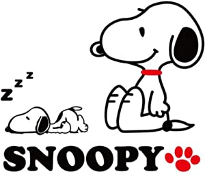 Cartoon Snoopy 3D Acrylic Crystal Wall Stickers Children Room Bedroom Decor Fashion Style (Extra-Large Size)