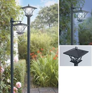 Good Ideas Ideas Solar Post Lights (1027) Set Of 2 Garden Lights Light Up