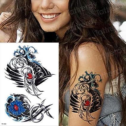 HXMAN 5 Unids Tatuajes Temporales Roseta Tatuo Cuerpo Pierna Talta ...