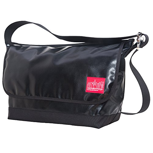 Manhattan Portage Luggage - Manhattan Portage Vinyl Vintage Messenger Bag Large Ver2, Black, One Size