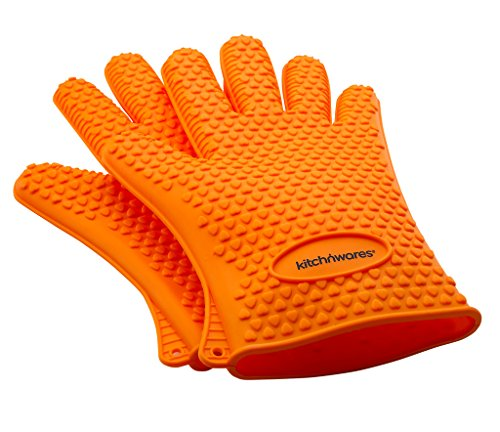 Resistant Silicone Gloves Orange Mitts