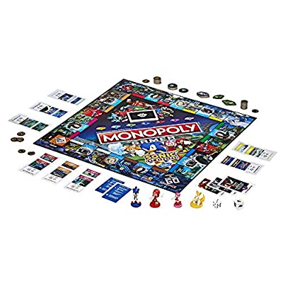 Monopoly Gamer Sonic The Hedgehog Edition Board Game for Kids Ages 8 & Up; Sonic Video Gamer Themed Board Game: Toys & Games