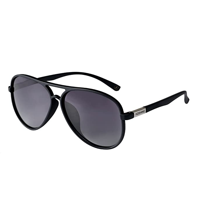df82d83457 Image Unavailable. Image not available for. Color  Hoishing Polarized Retro  Aviator Sunglasses for Women Men UV 400 Protection Plastic Frame with Metal  Dark