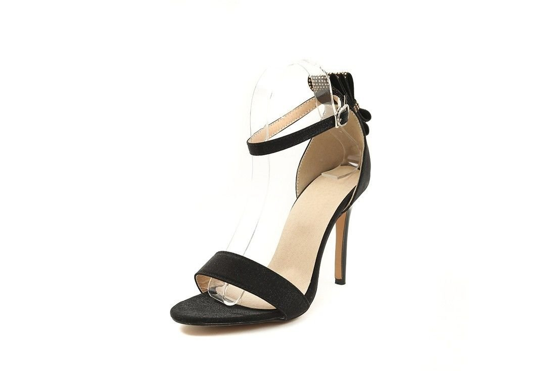 AIKAKA Chaussures pour Femmes Printemps Sandales Été Haut Talon Chaussures Arc Arc Strass Grandes Sandales Black e9ebe05 - shopssong.space