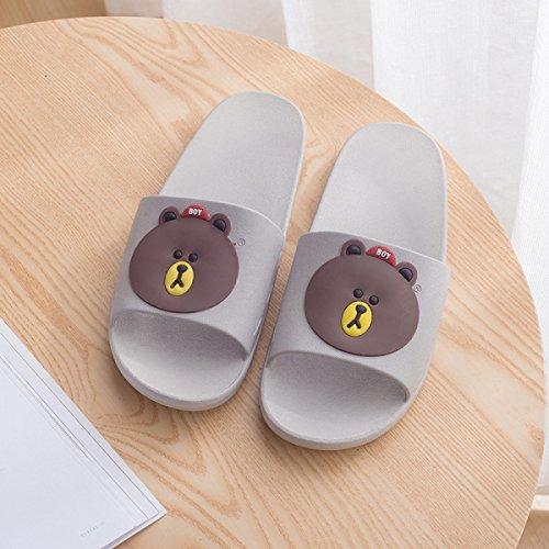 Antidérapante Salle De 36 Mode 39 37 Porter Couple Grey Nouvelle 38 Maison Bains Grey Sandales Mot Pantoufles Pantoufles nqEwxY5O
