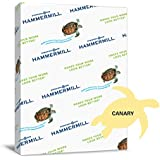 Hammermill Paper, Colors Canary, 24lb., 8.5x11, Letter, 500 Sheets / 1 Ream, (104307R), Made In The USA