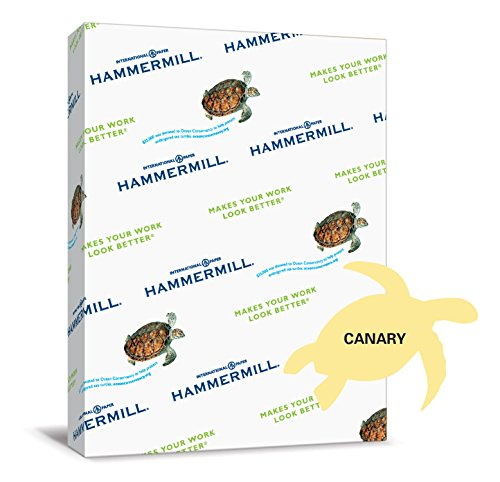 International Paper Hammermill Paper, Colors Canary, 24lb...