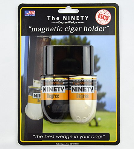 Ninety Degree Wedge The Magnetic Cigar Holder - White/Black (Best Golf Cart Cigar Holder)