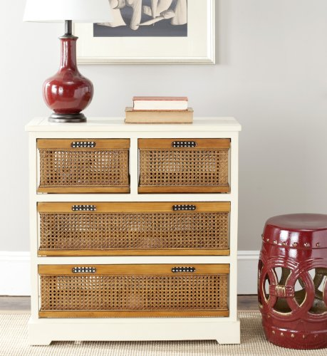 Safavieh American Homes Collection Jackson Barley and Cane 4-Drawer Storage (Cane Furniture)