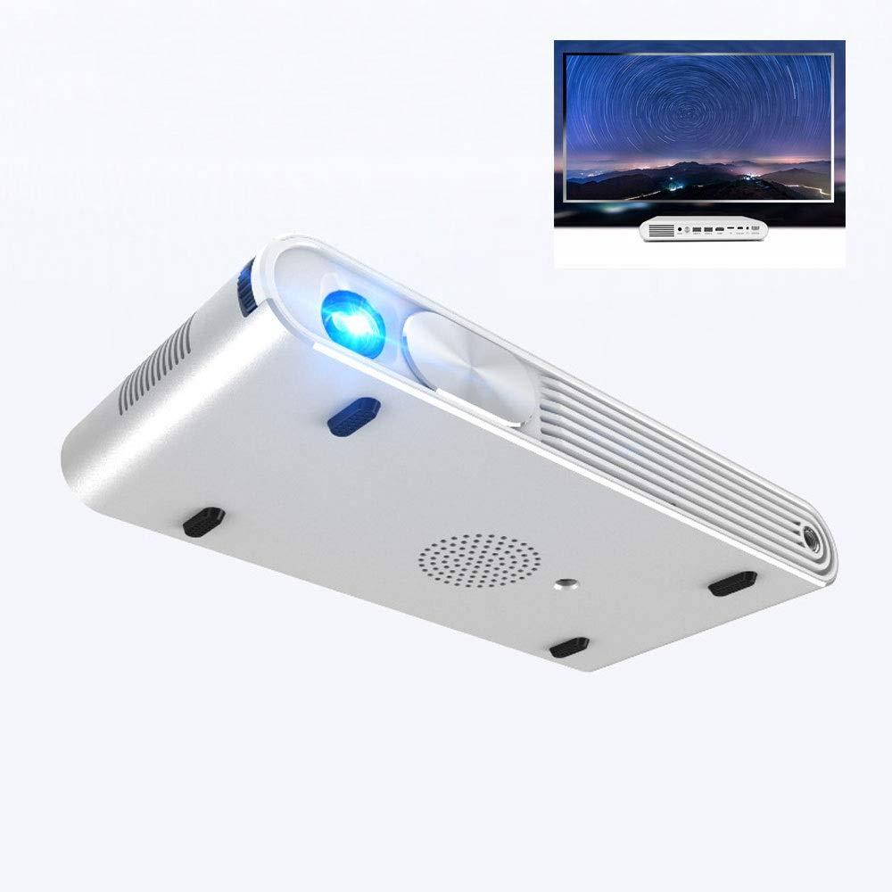 DLPプロジェクター1080Pr携帯電話ワイヤレススクリーンHDプロジェクター3DプロジェクションホームシアターなしスクリーンTV 1080p HD再生ブルートゥース4.0システム B07R7FDLVR