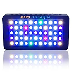 Marsaqua Dimmable 165w Led Aquarium Light Lighting Full Spectrum For Fish Freshwater & Saltwater Coral Tank Blue & White Lpssps