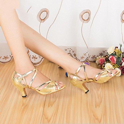 Ballo Dimensione Un Scintillanti Glitter sandali Scarpe Party tacco E Serali Azzurro Scamosciati Rosso Glitter Xue Da Donna colore Oro Latino 33 Interni C n4AxqO