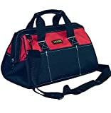 Tool Bag Combo 18', Zip-Top, Wide Open Mouth Storage Black and Red (L:17.7''X11''X7.9'')
