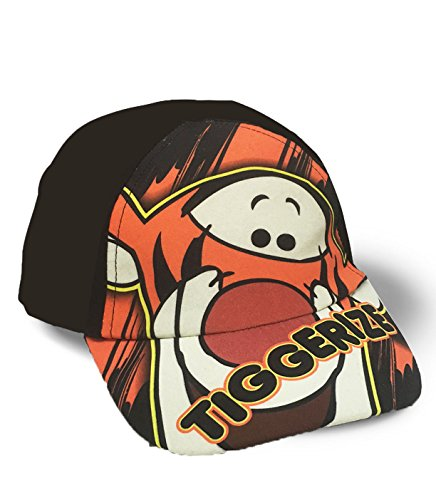 Pooh Hat (Disney Winnie the Pooh's Tigger Toddler Kids Baseball Adjustable Cap Hat - Tiggerize (Black))