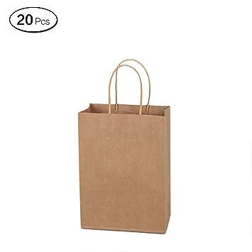 Jia Hu 15pcs calidad papel Kraft bolsas de papel con asas de ...