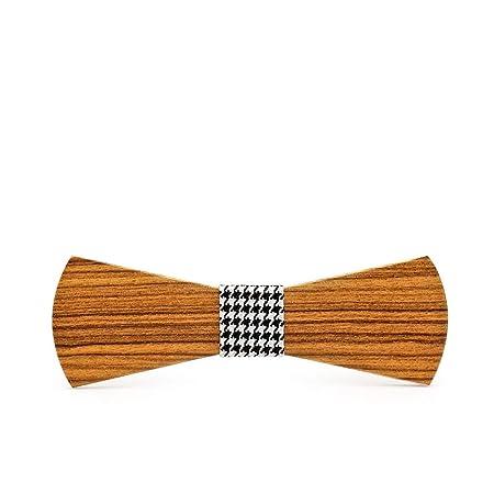 La corbata de madera de la boda se puede ajustar Pajarita de ...
