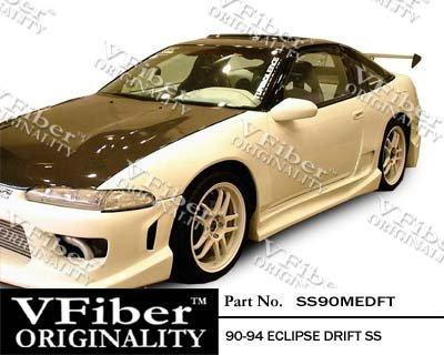 (1990-1994 Mitsubishi Eclipse HB Body Kit Drift Side Skirt)