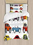 Best Car Boys With Twin Sides - Lunarable Boy's Room Duvet Cover Set Twin Size Review
