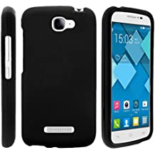 TurtleArmor | Alcatel One Touch Fierce 2 Case | POP Icon Case [Slim Duo] Smooth Matte Grip Hard 2 Piece Shell Compact Snap On Cover on Black Gaming Edition - Black