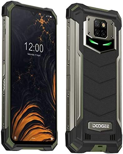 Doogee S88 Plus(8GB+128GB) 10000mAh Akku Outdoor Smartphone Ohne Vertrag, 48 MP Quad-Kamera, Octa-Core Android 10, 6,3?? FHD+ Corning Gorilla-Glas, Drahtlose Rückladung, IP68 Robustes Handy