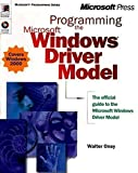 img - for Programming the Microsoft Windows Driver Model (Microsoft Programming Series) by Walter Oney (1999-11-13) book / textbook / text book
