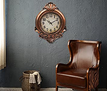 Oversized Vintage Wall Clock,Silent Wall Clock Non Ticking for Living Room Kitchen Bathroom Bedroom Round Retrol Decor Boutique Clock 29 Inch,Antique Wood