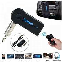 Adaptador bluetooth P2 auxiliar musicas chamadas viva voz com bateria microfone embutido
