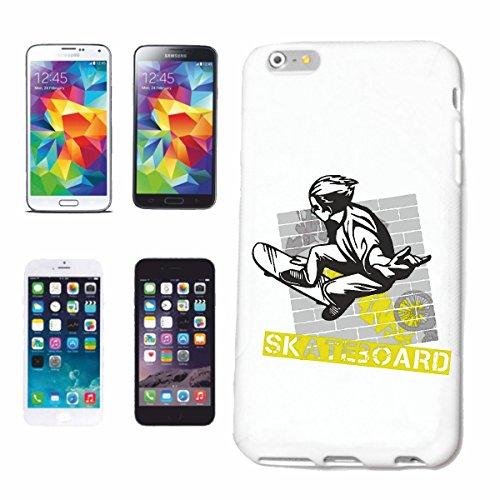 """cas de téléphone iPhone 6S """"SKATEBOARD SKATEBOARDER LONGBOARD FREESTYLE SKATER"""" Hard Case Cover Téléphone Covers Smart Cover pour Apple iPhone en blanc"""