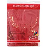 Party Dimensions Single Count Plastic Table Skirt, 29 by 14-Feet, Red