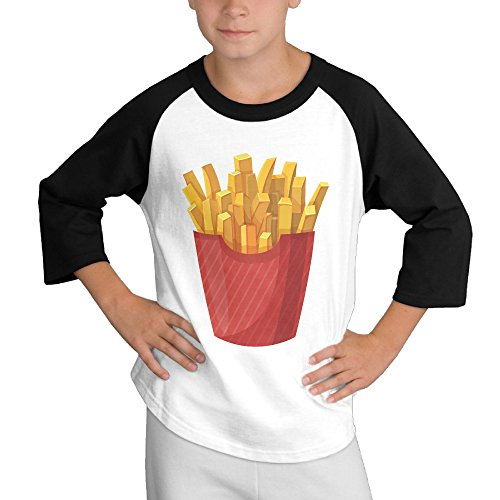 MULTY9 French Fries Child Youth 3/4 Sleeve T Shirts Medium (Dwight Fryer compare prices)