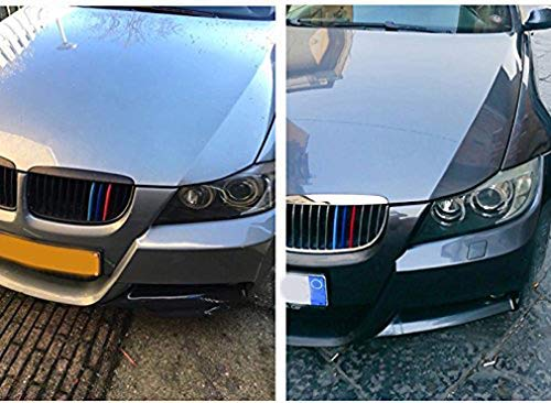 -Kidney Grills Insert accessories-M-Color Front Grille Stripe Decals 9 Grilles For 5 Series G30 G31 G38 530i 540i 520d 530d 2007-2018