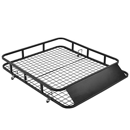 SUNCOO Mobility Scooter Wheelchair Carrier Foldable Disability Medical Cargo Rack with Loading Ramp Hitch Mount,Heavy Duty Steel 400 lb. Capacity 48' L X 28' W X 42.25' H