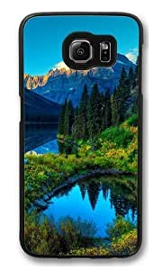 HDR Mountains Lake Polycarbonate Hard Case Cover for Samsung S6/Samsung Galaxy S6 Black