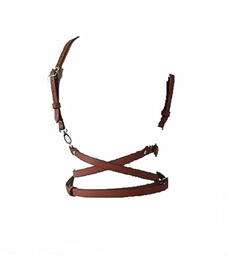 JQJPJOSIE Moda O-Ring Garters Faux Leather Body Bondage Jaula ...