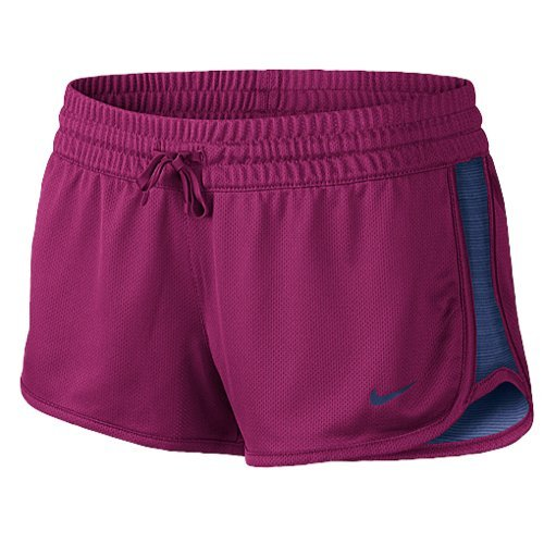 Nike Shorts Womens Knit - Nike Womens Gym Reversible Shorts Pink/Blue (X-Small)