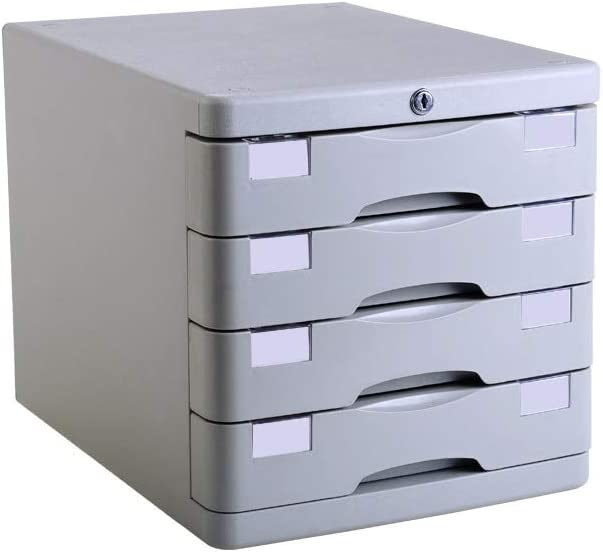 File cabinet File Cabinets Office Desktop File Holder A4 Plastic Data Cabinet Desktop Cabinet File Storage Cabinet Storage Box Design: 4 Layers Home Office Furniture Office Supplies