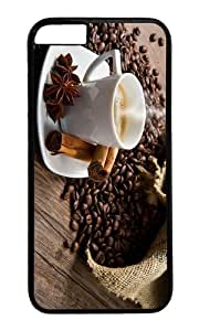 MOKSHOP Adorable Coffee Time Hard Case Protective Shell Cell Phone Cover For Apple Iphone 6 Plus (5.5 Inch) - PC Black
