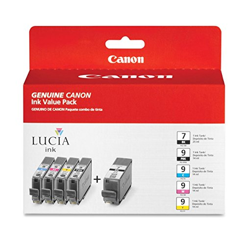 Canon PGI9PGI7 (PGI-9/ PGI-7) 5 Color Value Pack in Retail Packaging