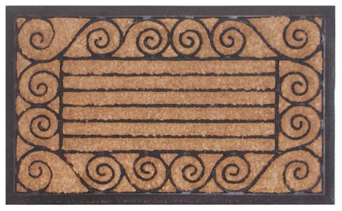 Imports Decor Rubber Back Coir Doormat Ameeba 18-Inch by 30-Inch