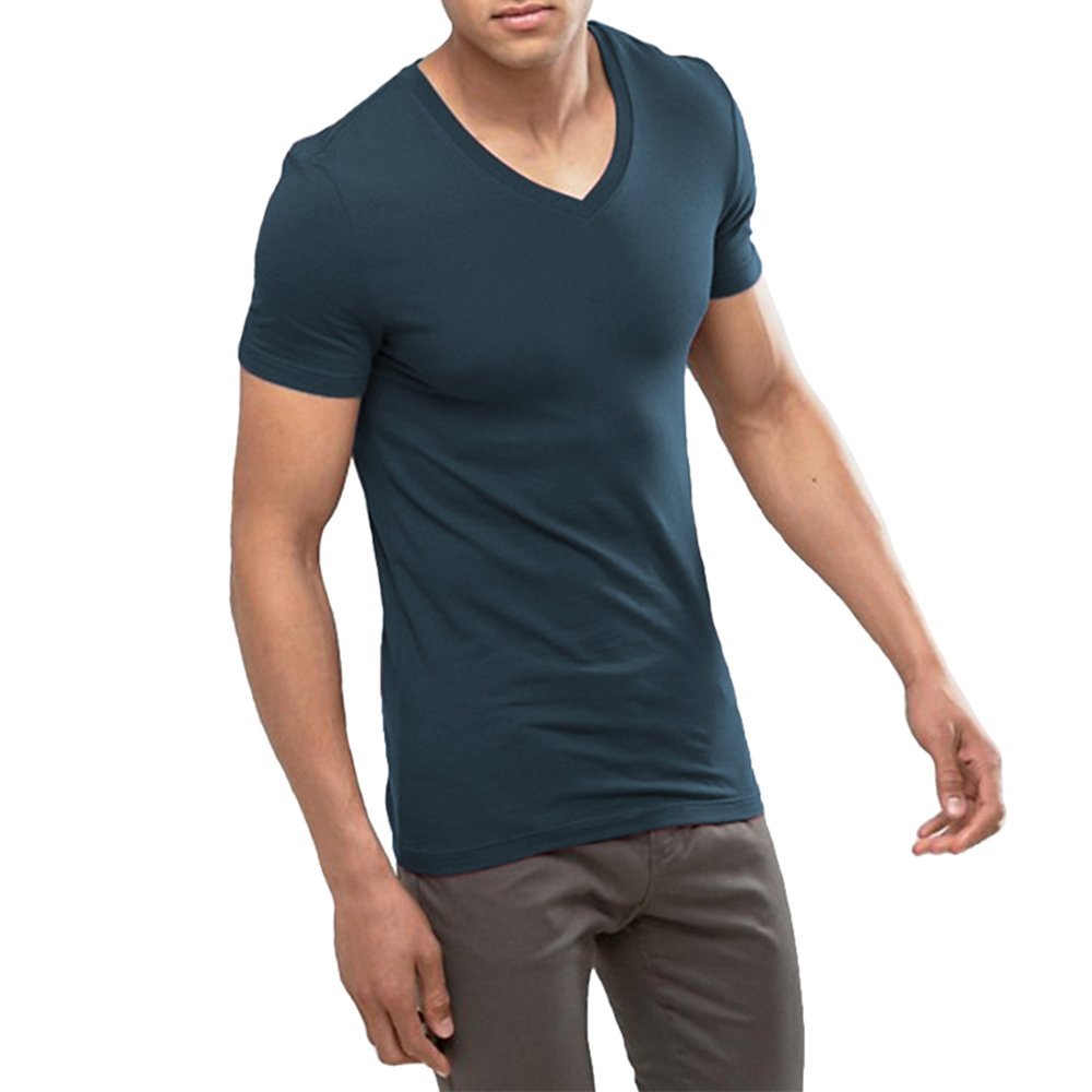 71be3c54 100% Cotton Soft Breathable Comforable 30 ° C or less Machine wash Shorter  and slower program dehydration. V Neck Regular Cut Sleeves Tightest fit to  the ...