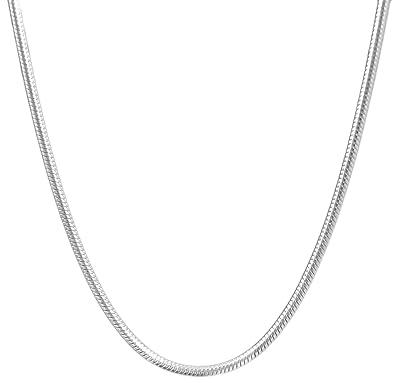 Amazon.com: 1,5 mm serpiente – Collar cadena acero ...