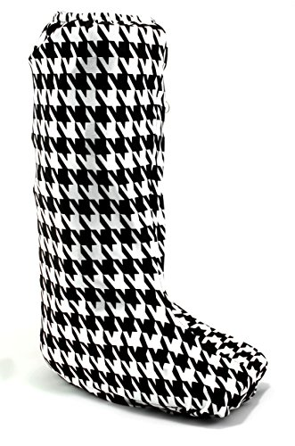 My Recovers Walking Boot Cover for Fracture Boot, Fashion Cover in Black-White Houndstooth, Size Medium, Tall Boot, Made in USA, Orthopedic Products Accessories by My Recovers