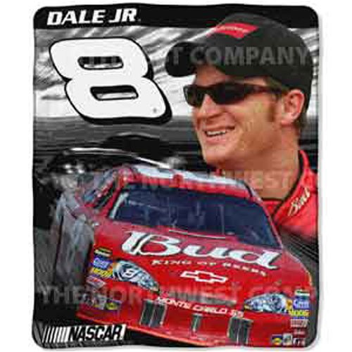 Dale Earnhardt Jr. Light Weight Fleece NASCAR Blanket (Motion Series) (50