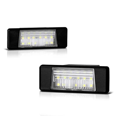 VIPMOTOZ Full LED License Plate Light Lamp Assembly Replacement For Nissan Armada Juke Versa NV200 Rogue Sport Infiniti Q50, 6000K Diamond White, 2-Pieces: Automotive